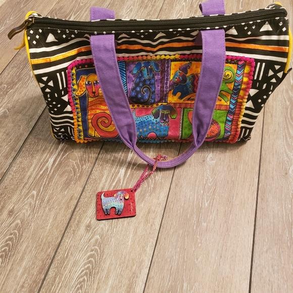 aa54e4239f0 Laurel Burch Bags | Dog Print Duffle Bag | Poshmark